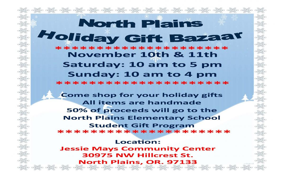 holiday arts bazaar flyer